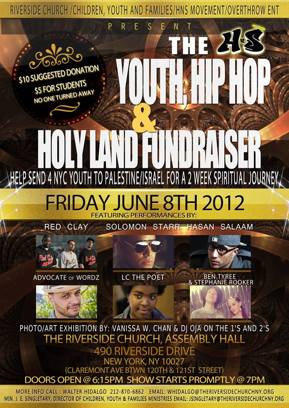 The Youth, Hip Hop and Holy Land Fundraiser