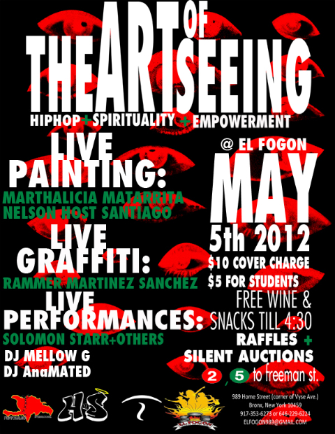 The Art of SEEING: HIP HOP, SPIRITUALITY & EMPOWERMENT- SAT. May 5th