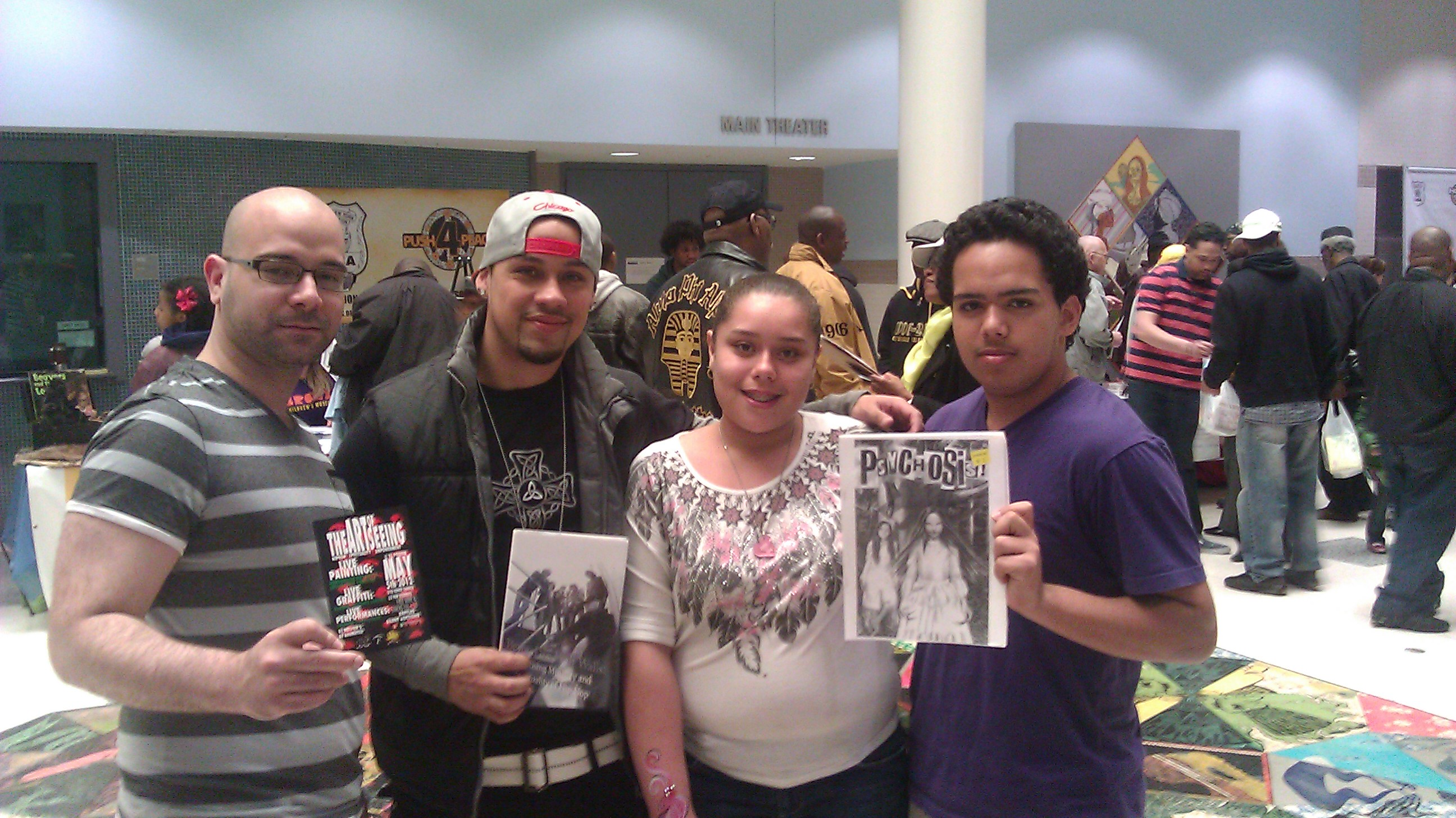 Youth supporting our table at the Hot 97 Push for Peace event at Hostos Community College