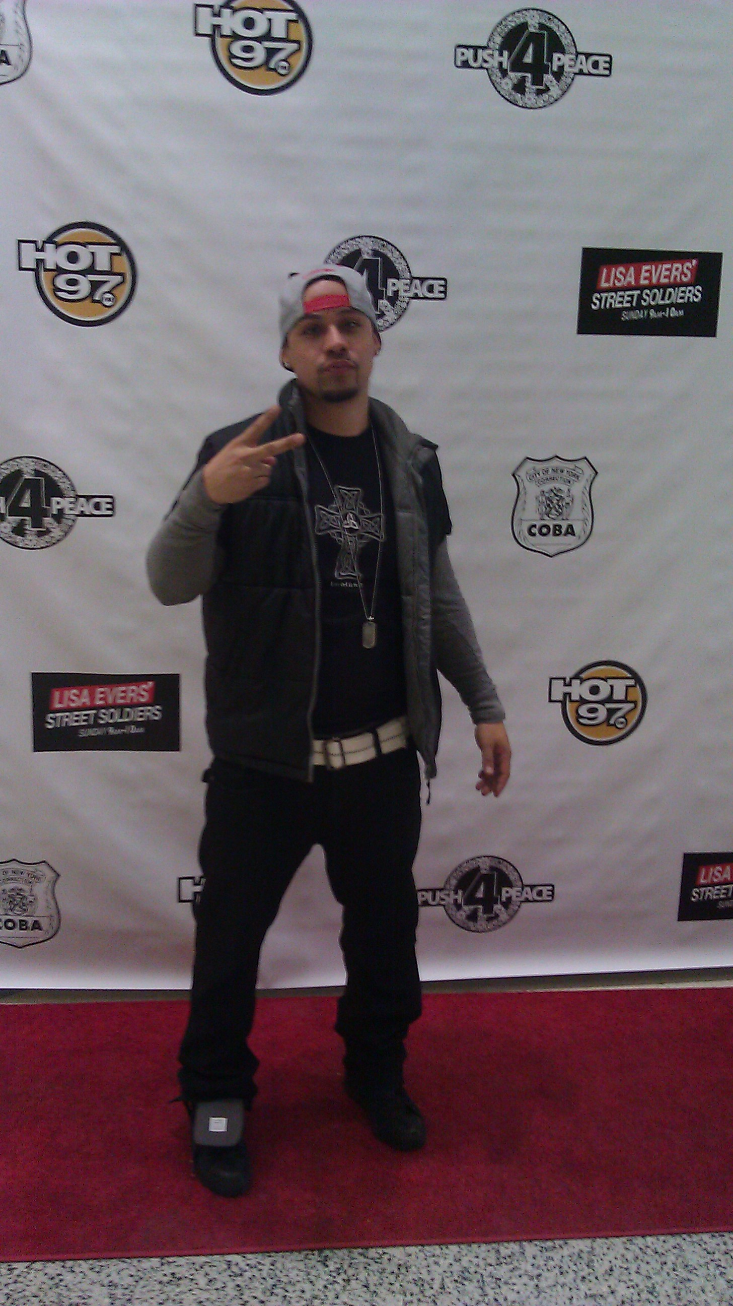 Walter Hidalgo at the Hot 97 Push for Peace event on April 28, 2012