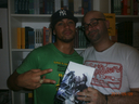 Me and the Word Up Book Store host, he's also my graphic designer, Rammer Martínez Sánchez.